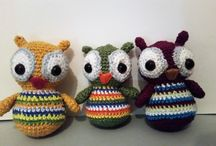 My handmade crochet cuties / These are the finished crochet cuties made by amigurumi technique and they are 100% handmade. I am so proud of them.