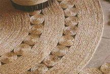Tejer pita yute alfombra