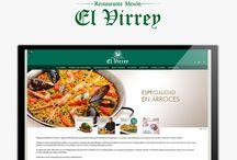 Diseño Web Restautante El Virrey / Os presentamos nuestro último trabajo de diseño y programación web que realizamos para el restaurante Mesón El Virrey de Valencia. Podéis visitar este trabajo en www.restauranteelvirrey.com