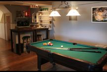 Man Caves / A space in the basement designed for men and their toys!