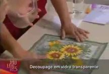 Vídeo mamiko decoupage prato transparente com verniz mordente