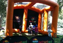 Netball Themed Inflatables / Inflatables centred around netball.