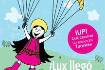LUX en locales de venta al público / Ilustraciones de LUX LA MUÑECA.  #ilustracion #illustration #pink #muñeca #deco #kids Facebook: lux la muñeca Ventas : tienda.citarte.net