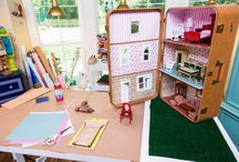 Dollhouses of Alternative Materials / A collection of dollhouses made of unusual items.