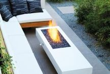 Exterior fire pits