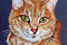 Portraits aux pastels de chats / Peintures animalières, portraits de chats réalisés aux pastels  www.artanimalier-annickabrial.com