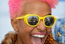 Colourful afro