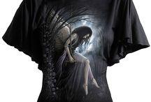 Tee shirts gothique et fantasy femme / T-shirts femme gothique, dark fantasy, steampunk. Tee-shirts, top, débardeur, manches courtes et longue. Vêtement mode gothic