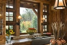 Log Homes / Mine and hubby's dream is to build and decorate log home