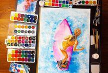 My watercolor | Мои акварельки / Люблю рисовать акварелью. Приятного просмотра!