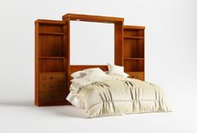 Natural Wood Veneer / Our Murphy style beds are able to be custom made to your exact specifications. http://wallbedsmfg.com/