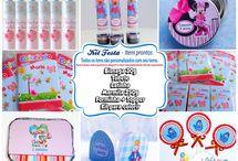 Kit festa pronta / Decoração / Decore sua festa com lembrancinhas personalizadas.