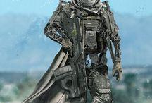 sci-fi desert army