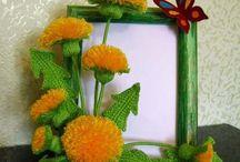 Flowers /Flores / Flores variadas em trico, croche.....