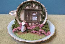 Tea Cup & Tea Pot Scenes
