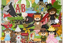 {Land Of Oz} Digital Scrapbook Kit by Wimpychompers Creations / There really IS no place like home, but if you find yourself somewhere else it is best to have friends.
