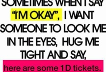One Direction : yeah they are amazing / Please don't laugh.  I think their music is really great.