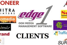 The picture says it all !!! /  Edge1 Outdoor Advertising Software's insight:  Some of the partial Clients of Edge1 Outdoor Media Management Software. They all have choose Edge1 for their growth, what are you waiting for ? Just shoot us a mail at: care@edge1.in
