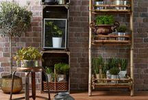 Terrasse inspiration - Få inspiration til din terrasse / Få inspiration til at skabe hygge på din terrasse med krydderiholdere, krydderi krukker, smart gør-det-selv sofa...