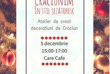 Crăciunim în stil șezătoresc / Atelier decorațiuni de Crăciun 5 decembrie, orele 15:00 - 17:00 CARE Cafe, Strada Olari, Nr.8, București