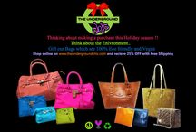 Holiday Promotions / #holidays #ecofriendly #ecofashion #theundergroundchic #handbags #creativebags