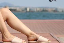 ARMONIA || Γυναικεία Flatform Παντόφλα Suede με Glitter