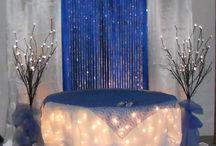 Royal Blue Silver wedding