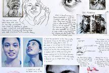 portfolio's and a levels / Portfolio inspiration for composition and development