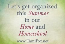 Organizing / This is for my series on getting organized in your home and homeschool
