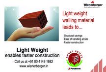 House construction / Light weight advantage: #Porotherm #smartbricks