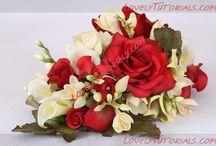 розы с полимерной глины