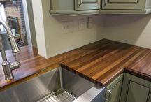 Solid Black Walnut Kitchen Countertops