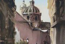 GLOBAL ARTE: RINCONES DE GRANADA-ACUARELAS / Fantásticas acuarelas de Pablo Romero, sobre rincones de Granada. http://bit.ly/2bJWwAi