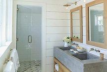Badkamer Tegels Grijs Met Hout