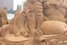 Sand Castles, Ice Sculptures, Legos / Cool sand castles around the world/Ice sculptures, Lego's / by Christine Gallagher
