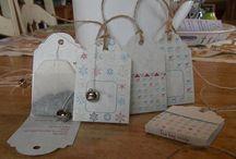 Gift tags with tea bag inside