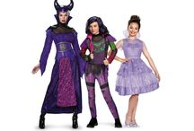 Disney Descendants Costumes / Villains have families, too. That's what the live-action Disney Channel movie, Descendants, is about. In the kingdom of Auradon, sons & daughters of villains attend high school with kids of Disney royalty & other movie heroes. Mal, the daughter of Maleficent, & Evie, the daughter of the Evil Queen, attend school with the likes of Audrey, the daughter of Sleeping Beauty & Prince Phillip. Experiment with different looks & dress up your family in costumes to play the villains or royalty, or both!