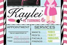 kiddies spa idea's and invites