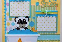 Baby bath scrapbook page