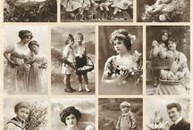 Grafiki vintage do tansferów d / Tu znajdują się ciekawe motywy w stylu vintage, jakie można wykorzystać do wykonania transferu w technice decoupage