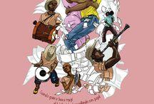 Viva la Fiesta / Proyecto personal que busca la visualización de la cultura chocoana a través de ilustraciones.