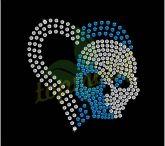 Skull Rhinestone Transfers / Skull Rhinestone Transfers