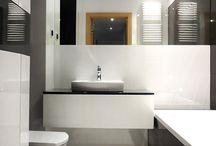 czerń i biel na Zachodniej / realizacja łazienki na Zachodniej