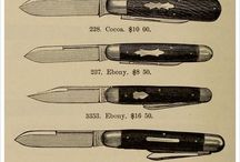 Knives ~ Blades & Other Tools / A knife (plural knives) is a tool with a cutting edge or blade, hand-held or otherwise, with most having a handle.