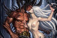 Fantasykunst Paare