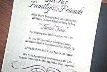 Donations card ideas