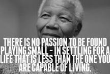 Our Heroes / Thank you to our heroes, like Nelson Mandela or Gandhi. Who changed the world in unimaginable ways. Proof that one person can make a huge difference. An inspiration, and some great men.