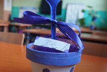 Wielkanocne kompozycje z plastikową łyżką