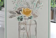 Stampin'Up! Jar of love / Lot Tampons + Framelits Jar of love