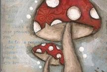 A-kırmızı mantar dekopaj